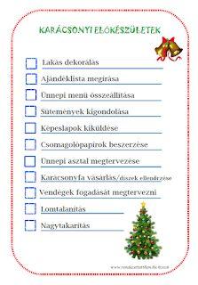 Egy helyen minden, amire szükséged van a Karácsony előkészítéséhez Christmas Diy, Xmas, Filofax, Advent, Life Hacks, Presents, Minden, Journal, Pattaya