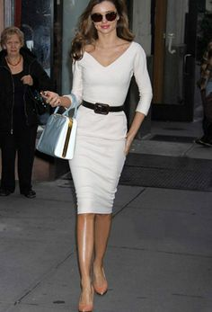 white Victoria Beckham Wool and silk-blend twill dress.jpg (340×501)