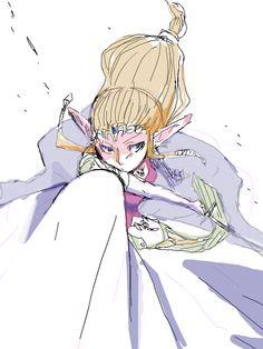 Princess Zelda smash oekaki