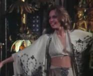 Madelaine (Lara Parker) is Modeling Her Fashion Design to Kolchak in The Trevi Collection, My Fave Episode on Kolchak: The Night Stalker