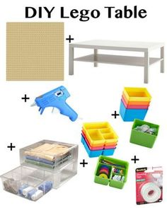 Ikea Hack-DIY Lego Table // Fancy Ashley