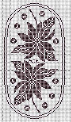 Pin by Ana Lina Krob on Toalhas, Tapetes e Trilhos Crochet Tablecloth Pattern, Crochet Bikini Pattern, Crochet Doilies, Cross Stitch Cards, Cross Stitch Flowers, Embroidery Patterns, Crochet Patterns, Filet Crochet Charts, Christmas Cross