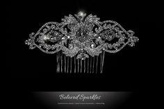 Lanetta Vintage Art Deco Hair Comb | Swarovski Crystal