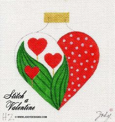 ........Tulip heart needlepoint
