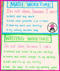 "Classroom Management anchor chart for when students think they are ""done""."