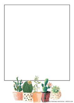 Free printable eleanor cactus wedding invitation templates pack of 10 pop up wedding invitation pocket fold with envelope etsy Make Your Own Invitations, Free Printable Wedding Invitations, Free Printable Stationery, Free Printables, Disney Invitations, Framed Wallpaper, Iphone Wallpaper, Paper Background Design, Instagram Frame Template
