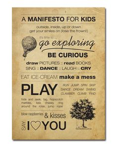 A Manifesto for Kids by the Smile Collective.