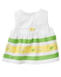 Gymboree Daisy Turtles White Yellow Green Cotton Swing Top Sz 12-18 month NEW Free Ship I pay Slice!