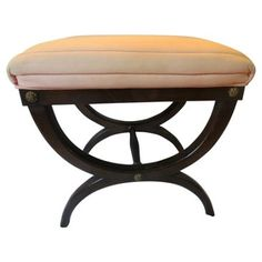 Check out this item at One Kings Lane! Upholstered Mahogany Curule Bench