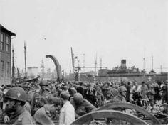 1945 Brigaden går i land i Helsingør d. 5. maj