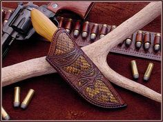 Custom Leather Knife Sheaths | Custom Knife Sheaths - A how-to video by Chuck Burrows - The Knife ...