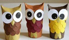 Como Fazer Corujinhas de Rolo de Papel Higiênico | Reciclagem no Meio Ambiente – O seu portal de artesanato com material reciclado                                                                                                                                                      Mais