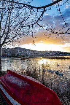 Red boat by John Ioannidis Greece Vacation, Greece Travel, Beautiful Islands, Beautiful World, Cyprus Greece, Nature Landscape, Stunning Photography, Travel Memories, Macedonia