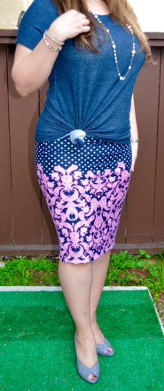 Jan 2016 Stitch Fix Review: Renee C. Roma Printed Skirt- Size L #stitchfix