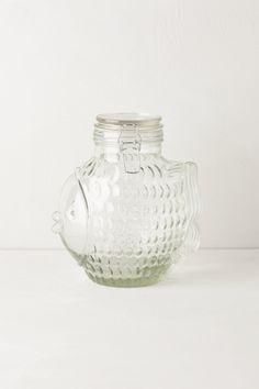 Glass Fins Canister - anthropologie.com