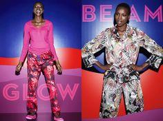 "Kenyan-Born Model Yaya Deng For Peter Alexander Sleepwear ""Bright Nights"" Catalogue"