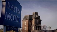 Bates Motel sign & house