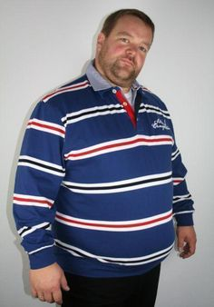 # Kitaro Sweatpolo 131222 blau weiß rot 4+5XL