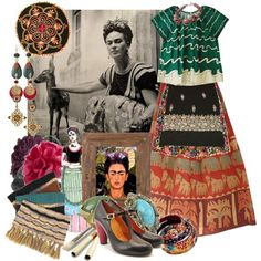 """Frida - admirable woman"" by kamilka on Polyvore:"