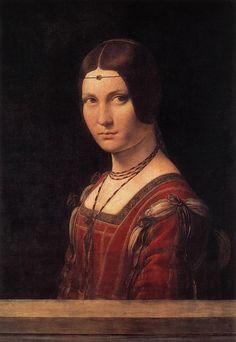 Portrait of an Unknown Woman (La Belle Ferroniere), 1490  Leonardo da Vinci