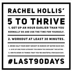 Rachel Hollis 5 to Thrive Challenge rachelhollis 13229392642463933 Rachel Hollis, Five To Thrive, 90 Day Challenge, Best Self, Monday Motivation, Workout Motivation, Self Improvement, No Time For Me, Cool Words