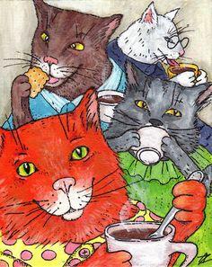 """Cats tea party""  by Anastasia Ziemba"