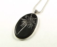 Stunning Chrysanthemum Stone Sterling Silver by Jet of the Day TheSilverBear #jod #jewelryonetsy