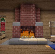 cool Minecraft Furniture - Fireplaces