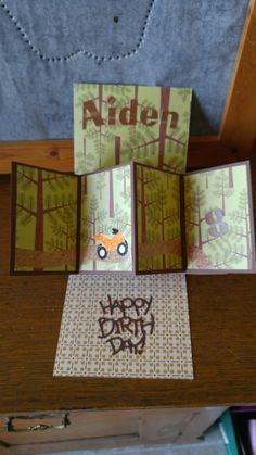 Pop and twist card. Birthday.