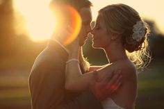 Joe's suggestions for wedding photography included shots of sunset back-lit romantic frames <3