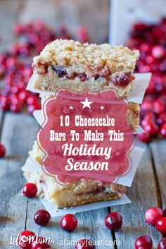 Whether they're topped with apples or filled with pumpkin puree, the cheesecake bars on this list are perfect for any holiday celebration.