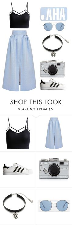 """Snow Flakes"" by hien-anhhs on Polyvore featuring mode, Vilshenko, adidas Originals, Kate Spade, Ticoo et MANGO"