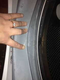 How to Clean A Front Loading Washer.. I clean this w Clorox wipes once a week #CloroxIctionary