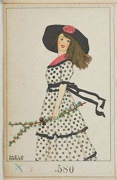 1912 Mela Koehler fashion plate, published by Wiener Werkstätte. The Met, colour lithograph, Museum Accession, transferred from the Library. Fashion Prints, Fashion Art, Art Deco Artists, Art Deco Posters, Art Deco Design, Costume, Funny Art, Fashion Plates, Illustrations Posters
