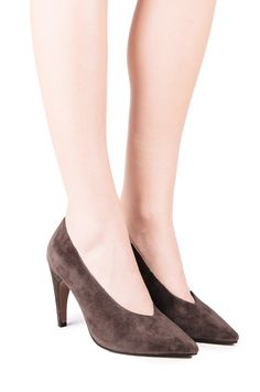 Jeffrey Campbell Shoes LEGACY New Arrivals in Taupe Suede
