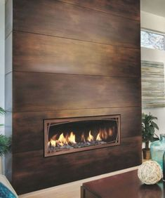 With a tv mounted Mendota Gas Fireplace Linear Direct Vent Modern Decor Linear Fireplace, Home Fireplace, Fireplace Remodel, Living Room With Fireplace, Fireplace Surrounds, Fireplace Design, Fireplace Mantels, Fireplace Ideas, Fireplace Decorations