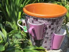 Mosaic Strawberry Pot