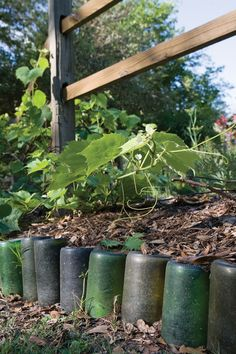 Based on a historic model, the herb-garden border is made from used wine bottles. Read more: http://www.motherearthliving.com/green-homes/bayou-beauty.aspx#ixzz38FDery4q