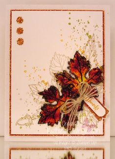 Gently Falling and Stained Glass Technique by tyque - Cards and Paper Crafts at Splitcoaststampers
