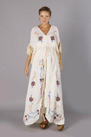 """""""Strange Magic"""" Women's embroidered duster - Lavender Fillyboo - Boho inspired maternity clothes online, maternity dresses, maternity tops and maternity jeans."""