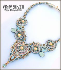 Сутажные ожерелья Miriam Shimon