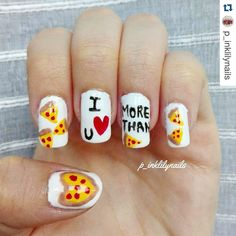 Reminds us of the t-shirt. Touch my bum and buy me pizza! #Repost @p_inklilynails with @repostapp.  If you love him more than pizza then it's real love! ;) I'm partecipating to #bemymani contest I'm a beginner :) Freehand on my natural nails using normal polishes only :) #nailartpicturs  #nailartlookbook #nailpromote #showmynails #nailssart  #dailynailartpics #lookherenailartcrazed #_nailart_lover_  #nailartpromote #cuteynails01 #thenailgoals #polishnsuch @nails_reposts_ @nailsjust4_u…