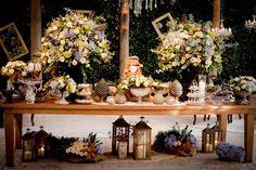 Mesa de doces - Decoração paleta de cores em tons pastel - Casamento Vintage - Foto Staniarty Photography