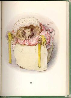 Beatrix Potter - The Tale of Mrs. Tiggy Winkle - Tigglewinkle with Yellow Gloves