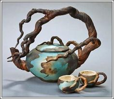 Silver Bonsai :: Ceramic Art :: Bonnie Belt :: Arching Branch ...