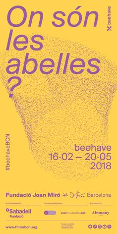 «Beehave» 16/02 - 21/05/2018 Movie Posters, Joan Miro, Exhibitions, Poster, Kunst, Film Poster, Billboard, Film Posters
