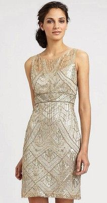 Sue Wong 1920's Gatsby Champagne Silver Beaded Sequin Bridal Evening Dress 8   eBay