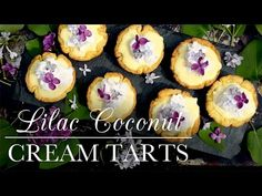 This Lilac Coconut Cream Tarts recipe feature a shortbread dough crust for a buttery, cookie-like tart base. Toasted Coconut, Coconut Cream, Coconut Flour, Tart Recipes, Sweet Recipes, Kitchen Vignettes, Tart Molds, Pbs Food, Blueberry Juice