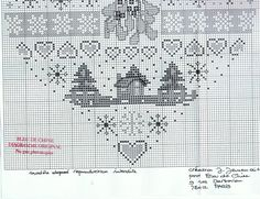 ru / Foto # 77 - Cuori - Anapa-mama 2 of 2 Quilt Stitching, Cross Stitching, Cross Stitch Embroidery, Cross Stitch Patterns, Xmas Cross Stitch, Cross Stitch Heart, Cross Stitch Samplers, Theme Noel, Christmas Embroidery