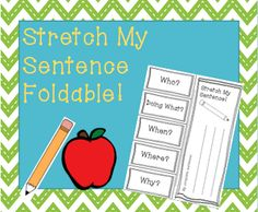 Help students write out complex sentence by using this stretch my sentence foldable! This foldable will help students practice writing complex sentences with describing words and correct punctuation.  http://www.teacherspayteachers.com/Product/Stretch-My-Sentence-Foldable-938434
